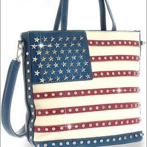 American Flag Handbag - Conceal Carry Handbag